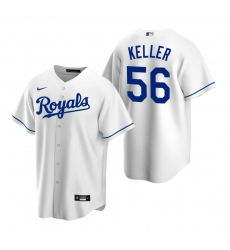 Men's Nike Kansas City Royals #56 Brad Keller White Home Stitched Baseball Jersey