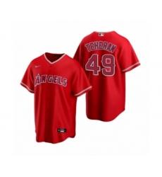 Men's Julio Teheran #49 Los Angeles Angels Red Replica Alternate Jersey