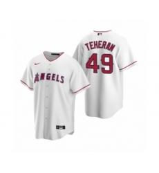 Men's Julio Teheran #49 Los Angeles Angels White Replica Home Jersey