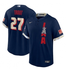 Men's Los Angeles Angels #27 Mike Trout Nike Navy 2021 MLB All-Star Game Replica Player Jersey