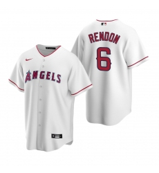 Men's Nike Los Angeles Angels #6 Anthony Rendon White Home Stitched Baseball Jersey