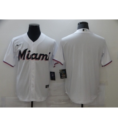 Men's Nike Miami Marlins Blank White Alternate Stitched Baseball Jersey