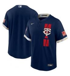 Men's Minnesota Twins Blank Nike Navy 2021 MLB All-Star Game Replica Jersey