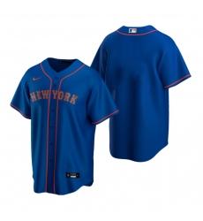 Men's Nike New York Mets Blank Royal Alternate Road Stitched Baseball Jersey