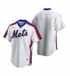 Men's Nike New York Mets Blank White Cooperstown Collection Home Stitched Baseball Jersey