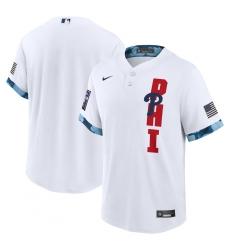 Men's Philadelphia Phillies Blank Nike White 2021 MLB All-Star Game Replica Jersey