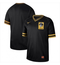 Men's Nike Pittsburgh Pirates Black Cooperstown Collection Legend V-Neck Jersey Black