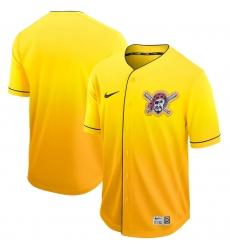 Men's Nike Pittsburgh Pirates Black Gold Fade Jersey