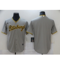Men's Nike Pittsburgh Pirates Blank Gray Cooperstown Collection Road Stitched Jersey