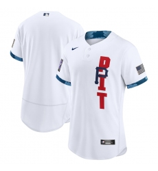 Men's Pittsburgh Pirates Blank Nike White 2021 MLB All-Star Game Authentic Jersey