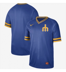 Men's Nike Seattle Mariners Blank Cooperstown Collection Legend V-Neck Jersey Royal