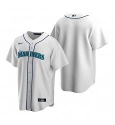 Men's Nike Seattle Mariners Blank White Home Stitched Baseball Jersey