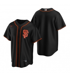 Men's Nike San Francisco Giants Blank Black Alternate Stitched Baseball Jersey