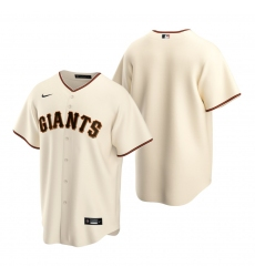 Men's Nike San Francisco Giants Blank Cream Home Stitched Baseball Jersey