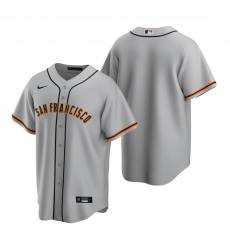 Men's Nike San Francisco Giants Blank Gray Road Stitched Baseball Jersey