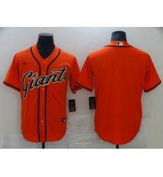 Men's Nike San Francisco Giants Blank Orange Cooperstown Collection Jersey
