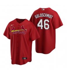 Men's Nike St. Louis Cardinals #46 Paul Goldschmidt Red Alternate Stitched Baseball Jersey
