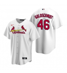 Men's Nike St. Louis Cardinals #46 Paul Goldschmidt White Home Stitched Baseball Jersey