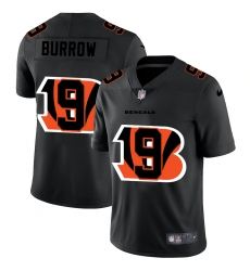 Men's Cincinnati Bengals #9 Joe Burrow Black Nike Black Shadow Edition Limited Jersey