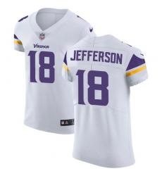 Men's Minnesota Vikings #18 Justin Jefferson White Stitched NFL New Elite Jersey