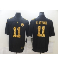 Men's Pittsburgh Steelers #11 Chase Claypool Black Nike Leopard Print Limited Jersey