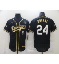 Men's Los Angeles Dodgers Kobe Bryant Nike Black Portrait Jerseys