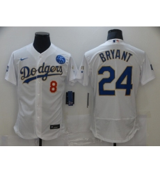 Men's Nike Los Angeles Dodgers #24 Kobe Bryant White Champions Authentic Jersey