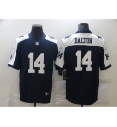 Men's Dallas Cowboys #14 Andy Dalton Nike Blue Throwback Limited Jersey