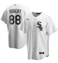 Men's Chicago White Sox #88 Luis Robert Nike White Home 2020 Replica Player Jersey
