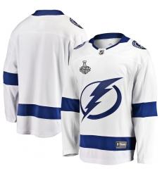 Men's Tampa Bay Lightning Fanatics Branded White Blank 2020 Stanley Cup Final Bound Away Breakaway Jersey