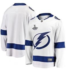 Men's Tampa Bay Lightning Fanatics Branded White Blank Away 2020 Stanley Cup Champions Breakaway Jersey