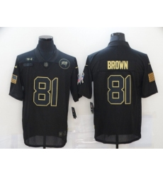 Men's Tampa Bay Buccaneers #81 Antonio Brown Black Nike 2020 Salute To Service Limited Jersey