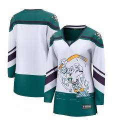 Women's Anaheim Ducks Fanatics Branded Blank White 2020-21 Special Edition Breakaway Jersey