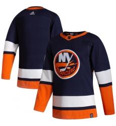 Men's New York Islanders Blank adidas Navy 2020-21 Reverse Retro Authentic Jersey