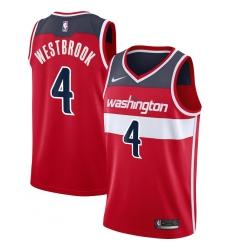 Men's Washington Wizards #4 Russell Westbrook Nike Red 2020-21 Swingman Jersey