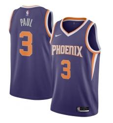 Men's Phoenix Suns #3 Chris Paul Nike Purple 2020-21 Swingman Jersey