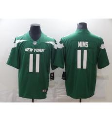 Men's New York Jets #11 Denzel Mims Green Nike Leopard Jersey