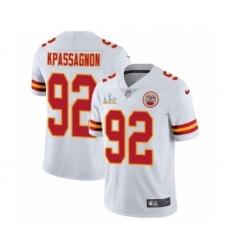 Youth Kansas City Chiefs #92 Tanoh Kpassagnon White Super Bowl LV Jersey