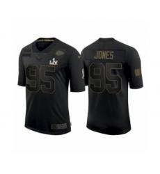 Youth Kansas City Chiefs #95 Chris Jones Black 2021 Super Bowl LV Jersey