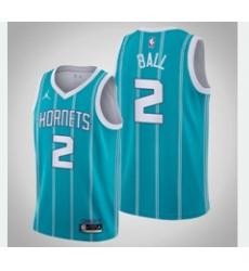 Men's Charlotte Hornets #2 Lamelo Ball Jordan Brand Teal 2020-21 Swingman Jersey