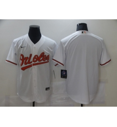 Men's Baltimore Orioles Blank White Jersey