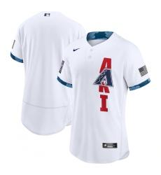 Men's Arizona Diamondbacks Blank Nike White 2021 MLB All-Star Game Authentic Jersey