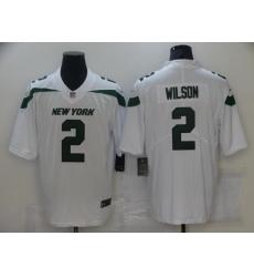 Men's New York Jets #2 Zach Wilson Nike Gotham White 2021 Draft First Round Pick Leopard Jersey