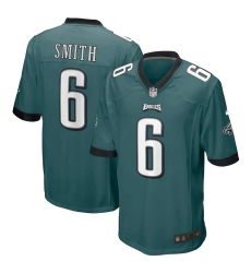 Men's Philadelphia Eagles #6 DeVonta Smith Nike Midnight Green 2021 NFL Draft First Round Pick Game Jersey