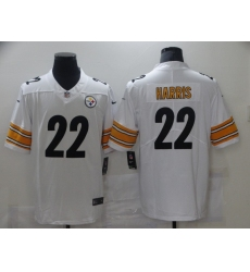 Men's Pittsburgh Steelers #22 Najee Harris Nike White 2021 Draft First Round Pick Limited Jersey