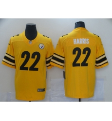 Men's Pittsburgh Steelers #22 Najee Harris Nike Yellow 2021 Draft First Round Pick Limited Jersey