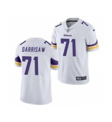 Men's Minnesota Vikings #71 Christian Darrisaw White 2021 Vapor Untouchable Limited Jersey