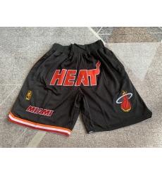 Men's Miami Heat Regular black with four pockets Shorts