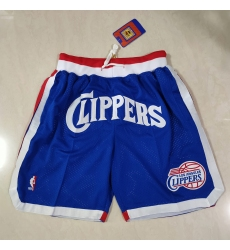 Men's Los Angeles Clippers Colorful blue pockets Shorts