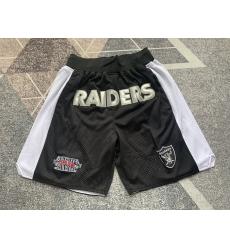 Men's Oakland Raiders Black Shorts